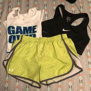 Under Armor Neon Athletic Shorts